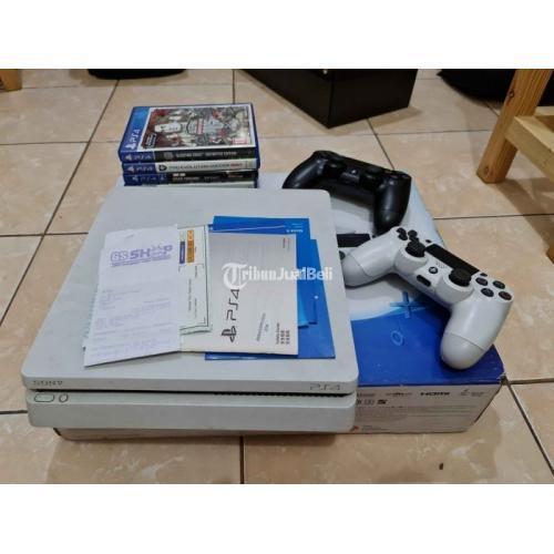 Konsol Game Sony PS4 Slim 500GB White Serial CUH-2006A B02 Bekas Normal - Jakarta