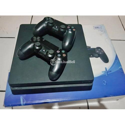 Konsol Game Sony PS4 Slim Segel Utuh Bekas Normal Stick Ori Lengkap - Denpasar