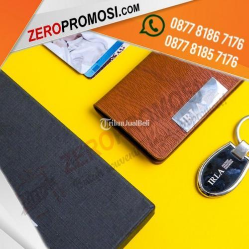 Souvenir Gift Set Promosi 2in1 Kode 202 Custom Logo Sablon dan Laser Grafir - Tangerang