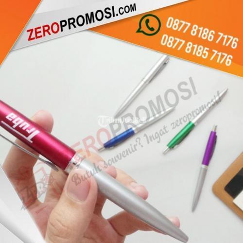Souvenir Pen Kantor 744 Polos Cetak Logo Custom Murah - Tangerang