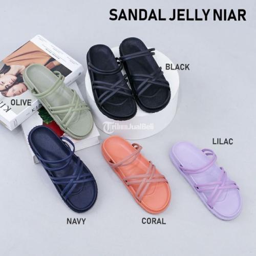 Sandal Karet Niar Bahan Jelly Import Size 37-40 Nyaman Dipakai - Surabaya