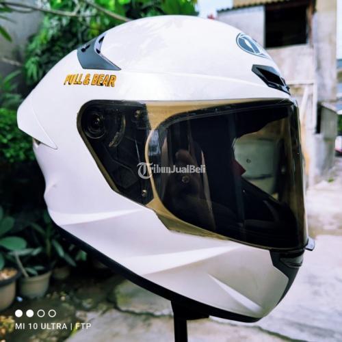 Helm Full Face KYT TT Course Pearl White Size M Bekas Shell dan Busa Ori - Jakarta