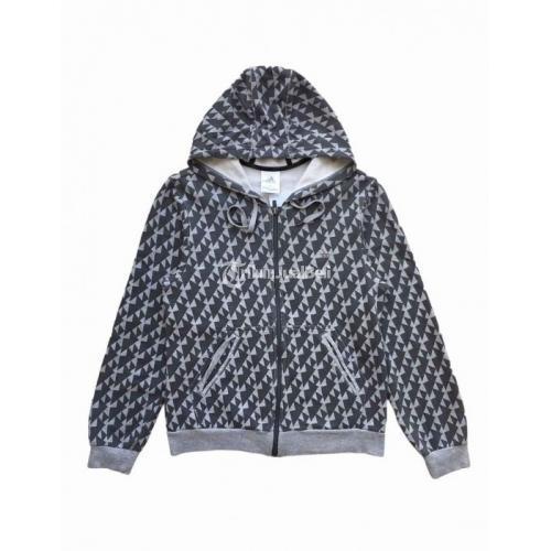 Jaket Hoodie Zip Adidas Second Original Size M fit L Like New Nominus - Surabaya