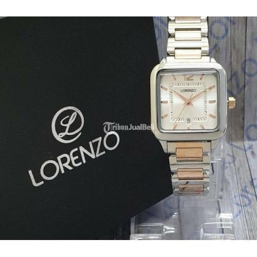 Jam Tangan Wanita Lorenzo Original Baru Fullset Diameter 3Cm Free Ongkir - Solo