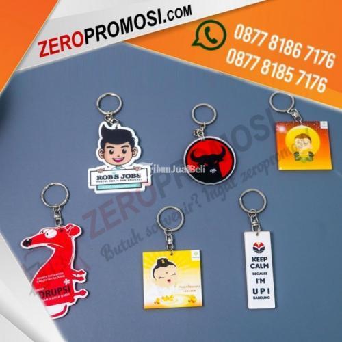 Souvenir Promosi Gantungan Kunci Acrylic Custom Logo Harga Murah - Tangerang