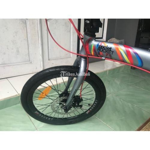 Sepeda Lipat Pooket Warna Abu Bekas Like New Mulus Normal Harga Murah - Banjarmasin
