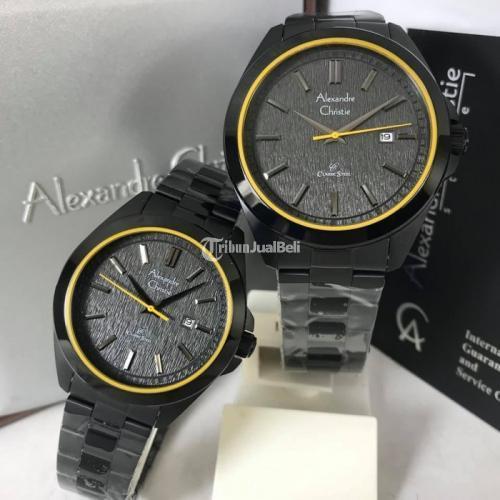 Jam Tangan Alexandre Christie 8644 Couple Original Lengkap Box Garansi - Jogja