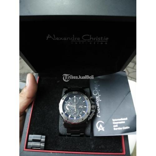 Jam Tangan Alexander Christie 9205 Black Fullset Bekas Normal Mulus - Surabaya