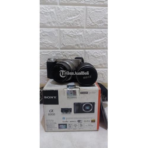 Kamera Sony A6000 Bonus 2 Lensa Fullset Bekas Normal Harga Nego - Sidoarjo
