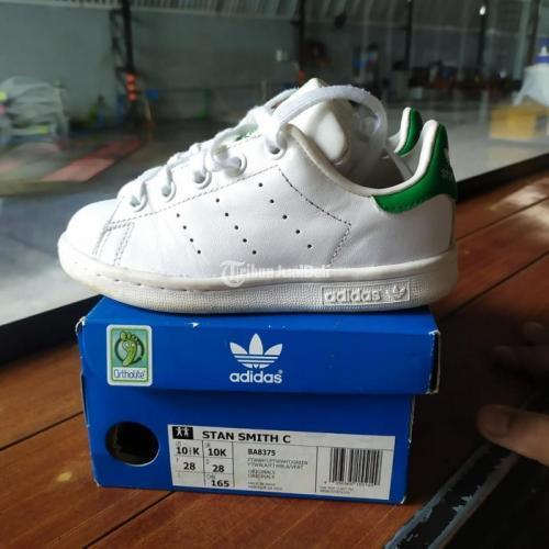 Sepatu Anak Adidas Stan Smith Size 28 Original Fullset Second Mulus - Jogja