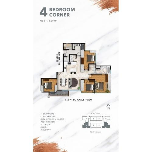 Dijual Apartemen Milenium Village Hillcrest House & Fairview House Kondisi Baru - Tangerang