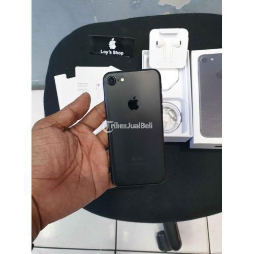 HP iPhone 7 128Gb Fullset Warna Hitam Bekas Mulus No Minus Harga Nego - Jakarta Barat