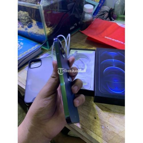 HP Apple iPhone 12 Pro Max Pacific Blue Bekas iBox Mulus Aman Garansi On - Makassar