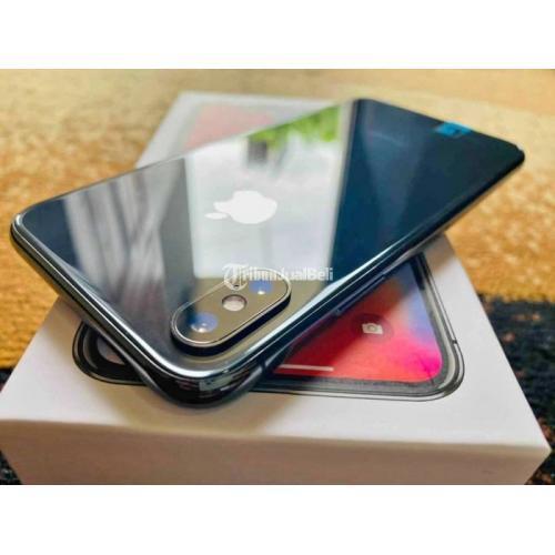 HP Apple iPhone X 64GB Hitam Bekas Mulus Fullset Ex Inter Nominus - Bandung