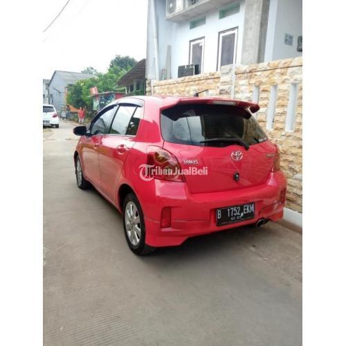 Mobil Toyota Yaris E 1.5 Manual 2013 Warna Merah Bekas Bergaransi - Depok