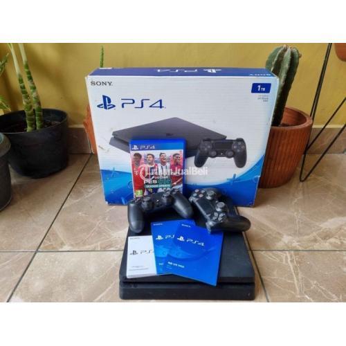 Konsol Sony PS4 Slim 1TB Full Game Bekas Resmi Normal Like New Nominus - Jogja