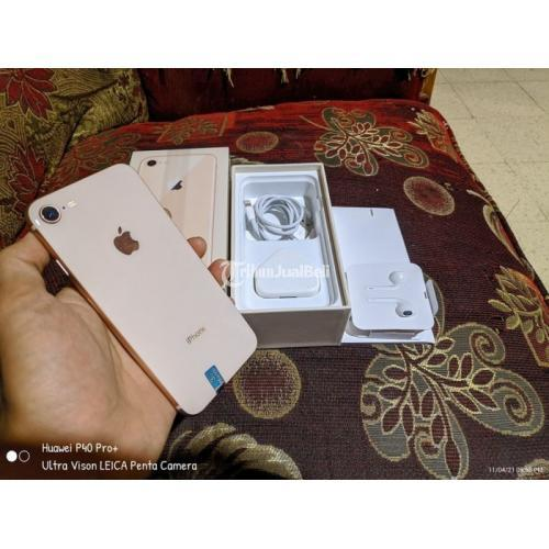 HP Apple iPhone 8 64GB Bekas LLA Region Nominus Fullset Harga Nego - Surabaya