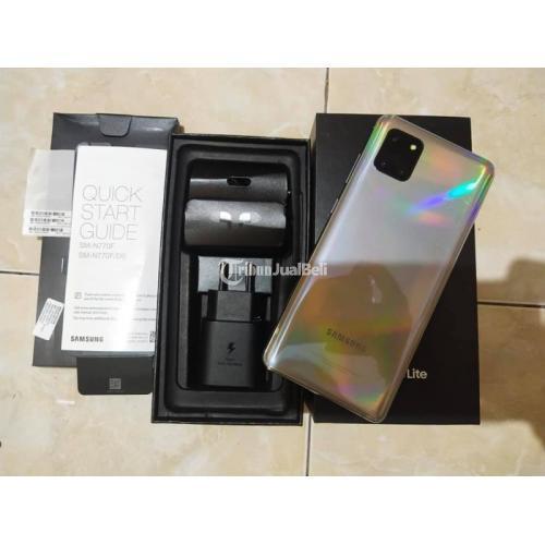 HP Samsung Note 10 Lite 8/128GB Mulus Fullset No Minus Bekas - Badung