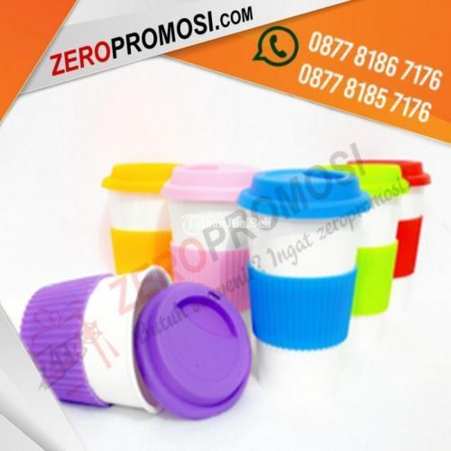 Souvenir MUG Keramik Promosi Rubber Rainbow Cup - Tangerang