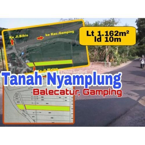 Dijual Tanah MURAH Lokasi Utara Garasi Bis Efiensi GAMPING Lt 1162m2 ld 10 - Yogyakarta