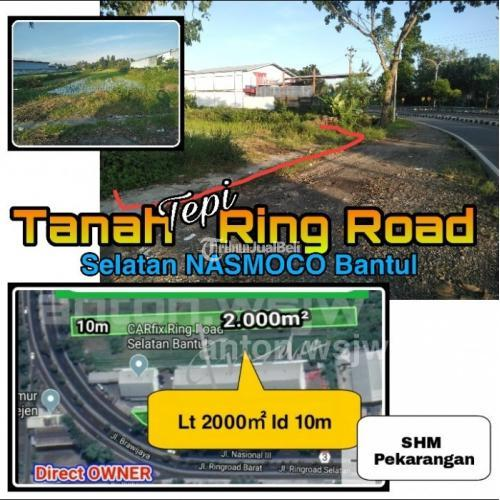 Dijual Tanah Ring Road Barat Lt 2.000m² ld 10m Selatan TOYOTA Nasmoco Bantul - Jogja