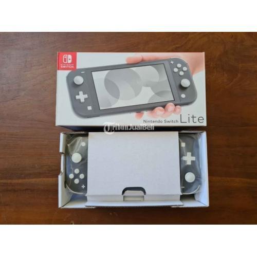 Konsol Game Nintendo Switch Lite Gray Fullset Bekas Banyak Bonus - Denpasar