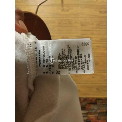 Crewneck ADIDAS TREEFOIL Original Second Size M Panjang 65cm Lebar 53cm - Badung