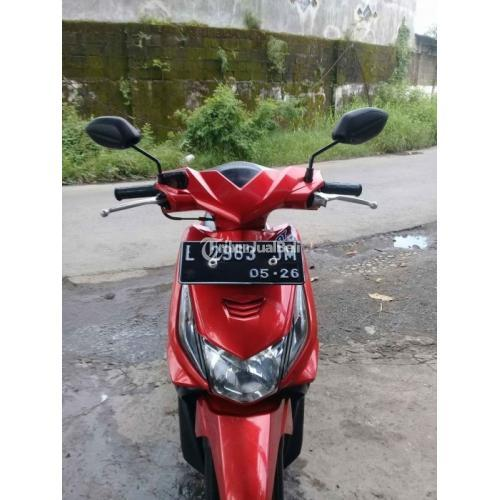 Motor Honda Beat 2011 Warna Merah Pajak Baru Mesin Normal Bekas - Surabaya