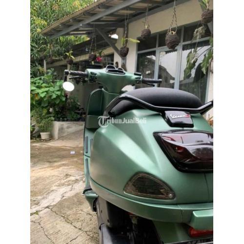 Motor Vespa 125 iGet Hijau Doff 2017 Bekas Surat Lengkap Pajak Jalan - Bandung