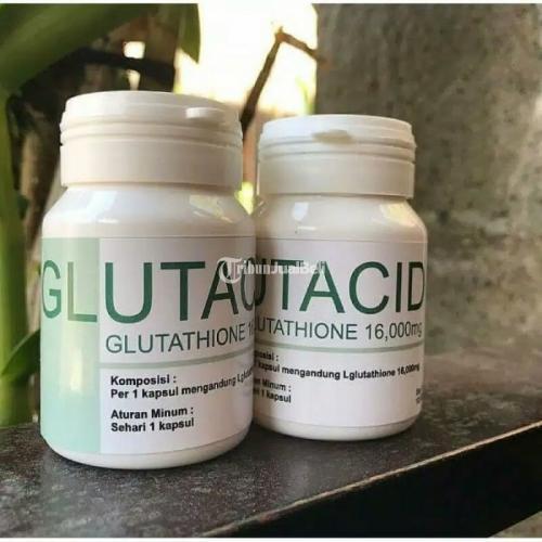 Glutacid Glutathione 16000mg Whitening Booster Obat Pemutih Badan - Jakarta Selatan