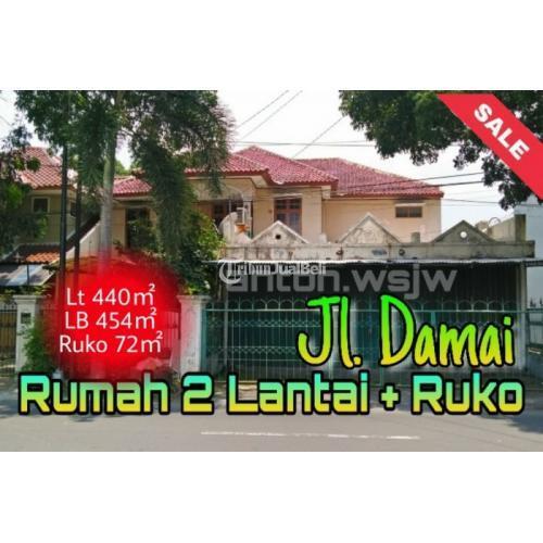 Dijual Rumah Mewah 2 Lantai Bonus TOKO (8mx9m)-tepi Jl Damai Lt 440m²-7KTidur - Sleman