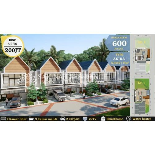Dijual Rumah Baru Cluster 2 Lantai di Pusat Kota Konsep Syariah Bebas Banjir - Cilegon