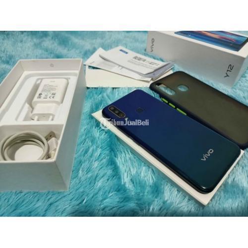 HP Vivo Y12 Ram 3/64Gb Fullset Original Warna Biru Bekas Mulus - Denpasar