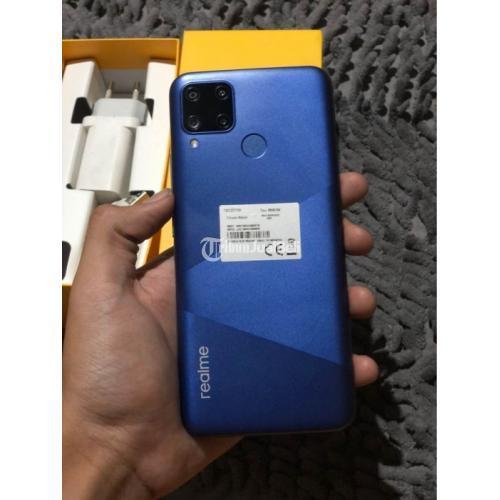 HP Realme C15 4/64GB Bekas Fullset Mulus Harga Nego - Jogja
