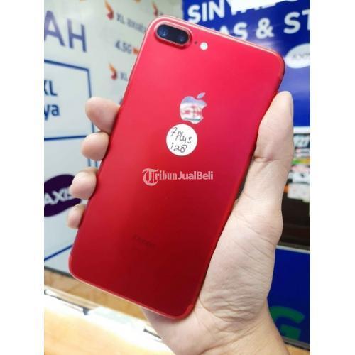 HP iPhone 7 Plus 128Gb Merah Fullset Bekas Mulus Harga Nego - Surabaya