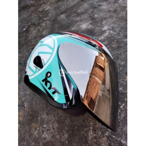 Helm KYT Kyoto Aquarium Set Visor Iridium Silver Size L Second Mulus - Jogja