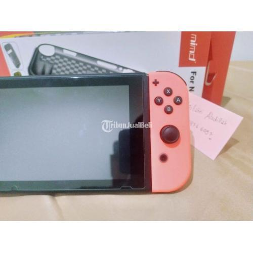 Konsol Game Nintendo Switch V2 Neon Second Like New Fullset Pembelian - Surabaya