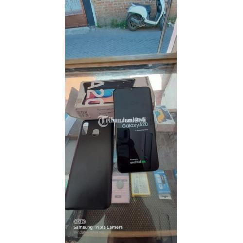 HP Samsung A20 Ram 3Gb/32Gb Fullset Bekas Mulus No Minus Bisa TT - Sidoarjo