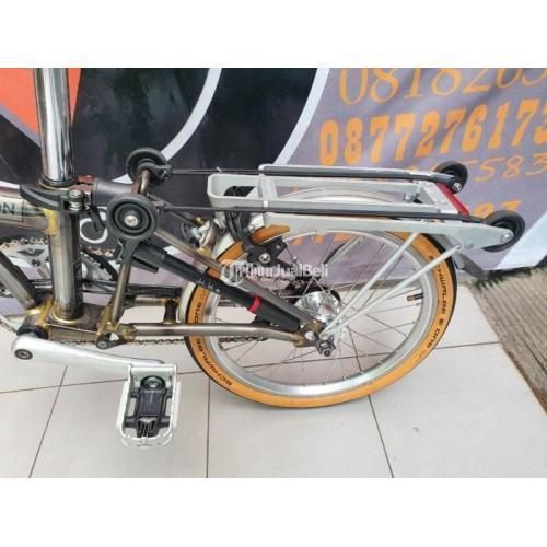 Sepeda Lipat Brompton Raw Laquer Dinamo Lamp Bekas Like New Normal - Jogja