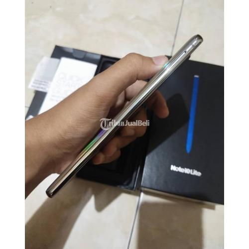 HP Samsung Note 10 Lite 8/128GB Fullset Gold Bekas Mulus Harga Nego - Badung