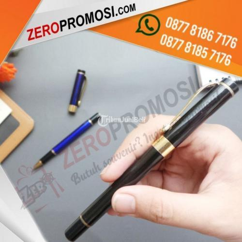 Souvenir Kantor Eksklusif Pulpen Besi 021RB Dengan Cetak Logo - Tangerang