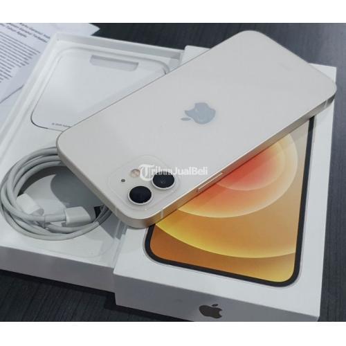 HP Apple iPhone 12 64GB Bekas Fullset Nota Mulus Like New Garansi iBox Panjang - Pontianak