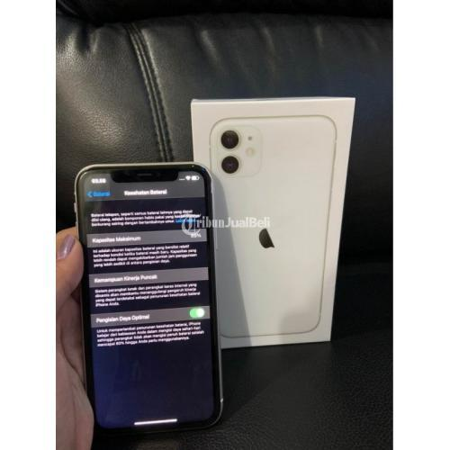 HP Apple iPhone 11 64GB Bekas Fullset Nominus All Operator Aman - Medan