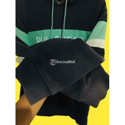 Jaket Hoodie Pull n Bear Size XL Euro Navi Tosca Second Bagus Harga Nego - Solo