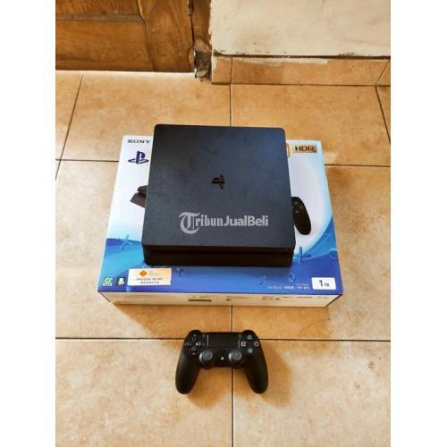 Konsol Game Sony PS4 Slim 1TB Bekas Mulus Nominus Fullset Like New - Jogja
