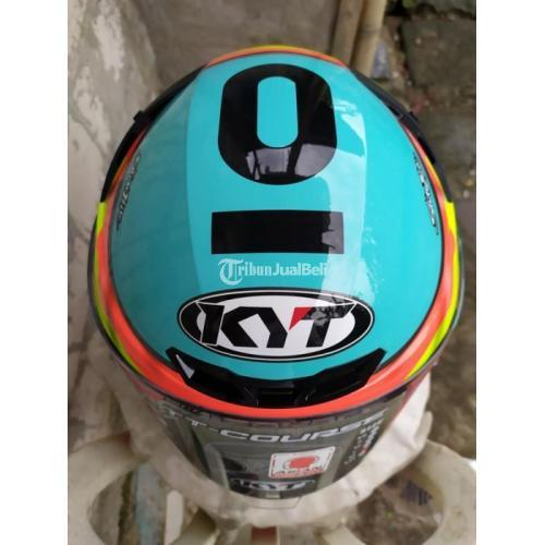 Helm Full Face KYT TTC Jaume Masia Leopard Ukuran XL Bekas Nominus - Jakarta