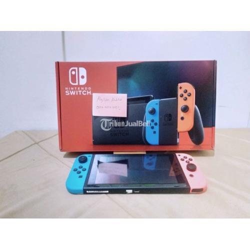 Konsol Game Nintendo Switch V2 Bekas Fullset Pembelian - Surabaya