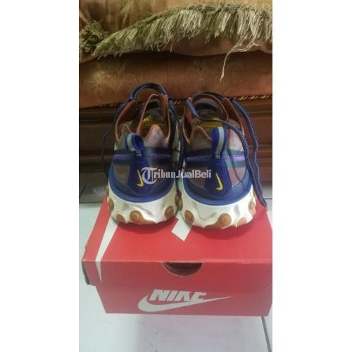 Sepatu Nike React Element 87 Dusty Peach Original Second Like New Fullset - Bandung