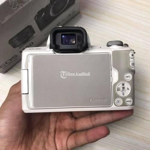 Kamera Mirrorless Canon EOS M50 Putih Bekas Fullset Harga Nego - Bandung
