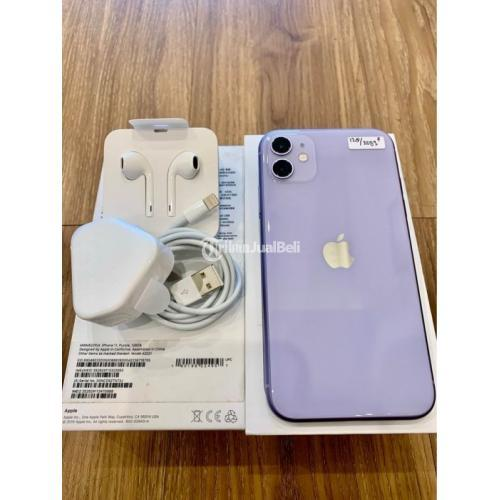 HP iPhone 11 128Gb Purple EX.Internasional Bekas Kondisi Normal Mulus - Sidoarjo